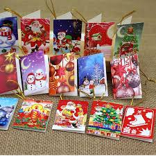 Christmas Tree Decoration Pendant Blessing Card Greeting Cards Christmas Small Hanging Ornament Christmas Wish Card Greeting Cards Birthday Greeting