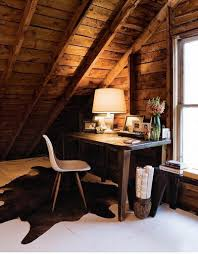 attic office ideas. rustic chic attic home office ideas