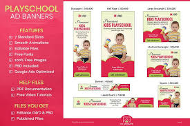 Kids Playschool Animated Ad Banner Template Ei002
