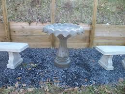 concrete bird bath top