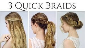 Quick Ponytail Hairstyles 3 Quick Braided Hairstyles Updo Half Up Half Down And Ponytail