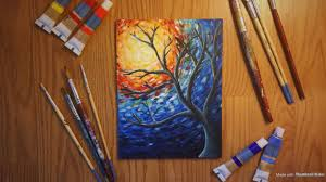 van gogh style painting with acrylics