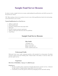 Server Resume Objective Proper Resume Objective For Restaurant Server Enomwarbco Resume 26