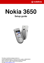 Nokia 3650 Users Manual Setup Guide