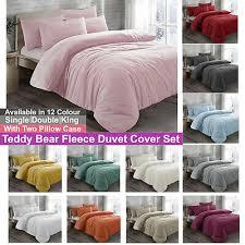 teddy bear fleece duvet cover bedding