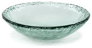 100 recycled glass textured large serving bowl