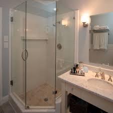 Small Narrow Bathrooms Small Bathroom Corner Shower Ideas Black Color Stone Wash Basins