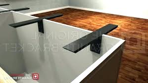 countertop braces metal supports for granite countertops packed with braces support