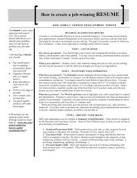 How To Make A Resume For A Teenager First Job How To Write Chronological Resume With Sample No Work Experience 89