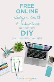 check out these free design tools to help you diy your wedding details
