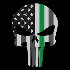 Large american flag punisher skull green line embroidered iron on sew patch these pictures of this page are about:green punisher skull. Punisher Skull Thin Green Line American Flag Subdued Decal Sticker Graphic Ebay