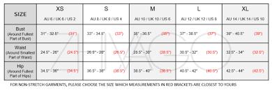 Size Chart Zhivago