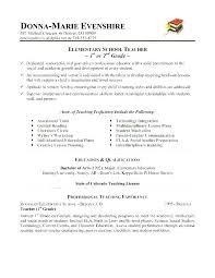 Sample Art Teacher Cover Letter Teacher Sample Resume Elementary Cocinacolibri Com