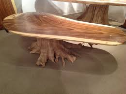 image of beautiful rustic wood coffee table