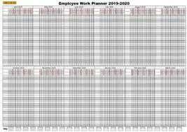Details About 2019 20 365day 20 Staff Employee Holiday Work Planner Chart A1 April March
