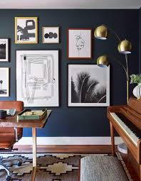 home office dark blue gallery wall. Home Office Wall Art Attractive 280 Best Gallery Inspiration Images On  Pinterest Interiors Regarding 7 Home Office Dark Blue Gallery Wall