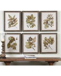 seedlings leaves framed wall art 6 piece set multicolor on 6 piece wall art set with summer shopping special seedlings leaves framed wall art 6 piece