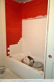 tub surround tile subway bathtub grey surrounds that look like cost bat