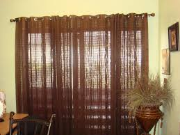 sliding glass door curtain rod window treatments design ideas