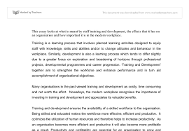 the importance of training and development in the modern workplace document image preview