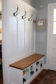 Hallway Storage Bench With Coat Rack THE VIRGINIA Mudroom Lockers Bench Storage Furniture Cubbies Hall 99
