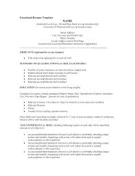 Resume Templates Functional Free Functional Resume Template