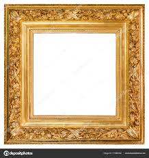 white antique picture frames. Antique Golden Frame Over White \u2014 Stock Photo Picture Frames