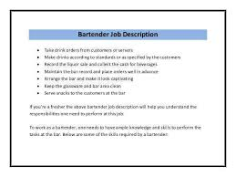 bartender job description resume and get inspired to make your resume with  these ideas 17 -