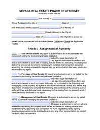 Nevada Durable Power Of Attorney Form Durable Power Of Attorney