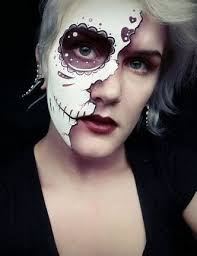 image result for half sugar skull makeup ideas