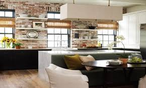 Kitchen Accent Wall Interior Designs For Kitchens Kitchen With Exposed Brick Wall