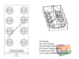 64 guests 20 30 frame tent round tables buffet