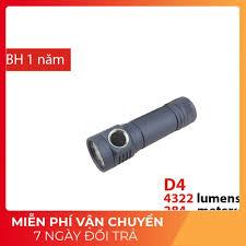 EMISAR D4 - đèn pin mini độ sáng 4300lm sử dụng 01 pin 18650 UI Anduril