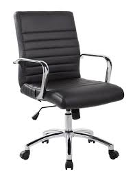 office leather chair. Picture Of RealBiz Modern Comfort Series Mid-Back Bonded Leather Chair, Office Chair