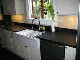 absolute black granite honed kitchen transitional new