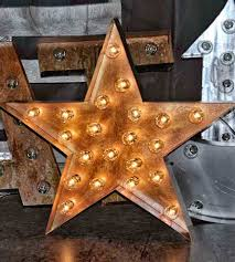 Nashville Sign Decor Metal Star Marquee Sign Home Decor Lighting Top Line 73