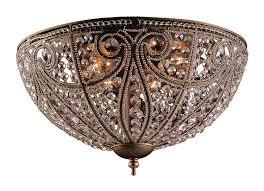 com elk elizabethan 6 light flush mount ceiling fixture dark bronze home improvement