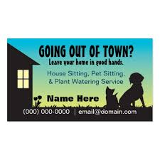 Pet Sitter Business Cards Animal Pet Care Business Card Templates Bizcardstudio