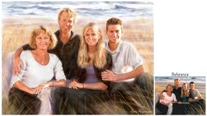 family portrait painting at the beach fun for me to harmonize the colors of the whole painting