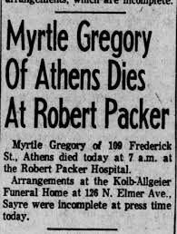 Gregory, Myrtle obit Aug 1970 - Newspapers.com