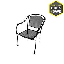 garden treasures davenport stackable steel dining chair with mesh seat