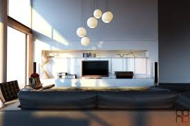 contemporary living room lighting. Ball Shaped Pendant Lamps For Modern Living Room Decor With Black Leather Sofa Set And White TV Cabinet Contemporary Lighting O