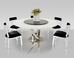 Contemporary Round Dining Table Spiral Modern Round White Dining Table With Lazy Susan