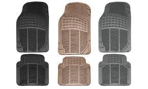 Rubber Car Floor Mats Carfloor Set Heavy Groupon For Simple Design