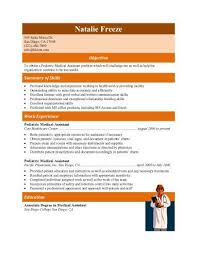 Medical Assistant Resume Examples Experienced Pediatric