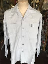 silver gray monogram long sleeve shirt