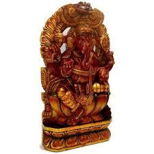 wooden idol wooden idol ganesh statue