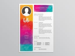 Colorful Resume Templates Extraordinary Free Colorful Resume Template For Job Seeker By Julian Ma Dribbble