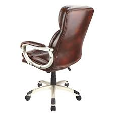 faux leather high back chairs. picture of realspace broward faux leather high-back chair, brown/silver high back chairs a