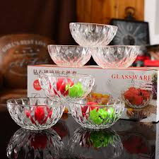 diamond bowl six piece crystal glass bowl four pieces of salad bowl set will be